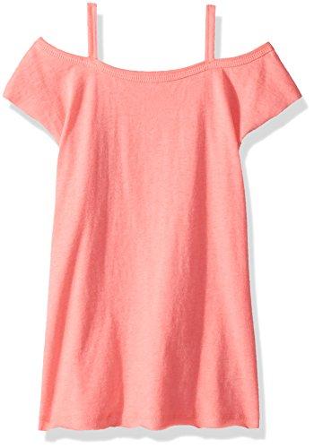 - Splendid Little Girls' Kids Short Sleeve Dress, Shoulder Electric Pink 4/5