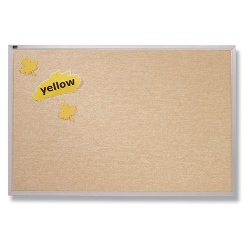 Quartet Vinyl Tack Bulletin Board, 2 x 3 Feet, Antique White Vinyl with Aluminum Frame (Antique White Vinyl Bulletin Board)