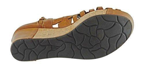 Pierre Dumas Women's Natural-1 Vegan Leather Criss Cross Strappy Wedge Platform Sandals,New - Platform Wedge New