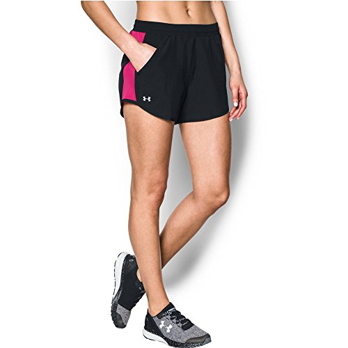 - Under Armour Women's Fly-By Shorts, Black/Reflective, X-Small