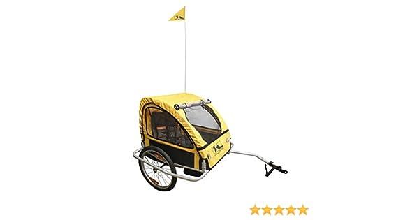 M-Wave Kids Ride Easy Remolque de Bicicleta Plegable para niños y Equipaje con Marco de Acero, Unisex Adulto, Plata, 60 x 75 x 28 cm: Amazon.es: Deportes y aire libre