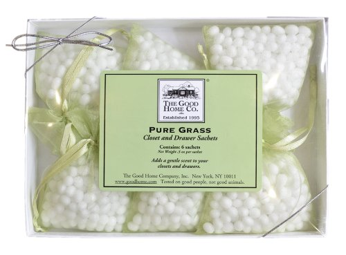 The Good Home Co Pure Grass Closet and Drawer Sachets, 0.5 Ounce by The Good Home Co.