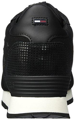 Mujer Fw0fw01879 4z2 Negro 990 black Tommy Para Jeans L1385ady Zapatillas vPw8AqX
