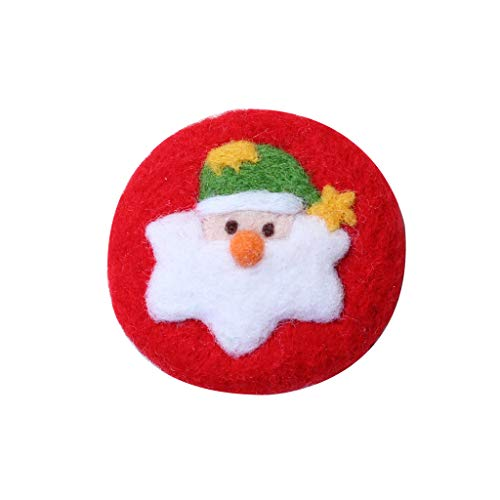 Qingchin Santa Claus Brooch Wool Felt Craft Non Finished Poked Set Handcraft Kit for Needle Bag Pack