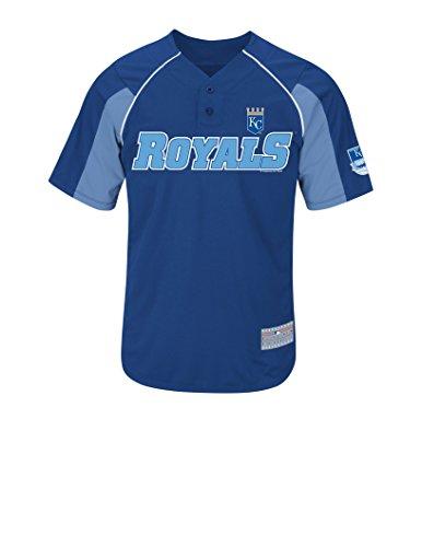 (VF LSG MLB Kansas City Royals Men's Gordon 4 Jersey, Deep Royal/Costal Blue/White, Large)