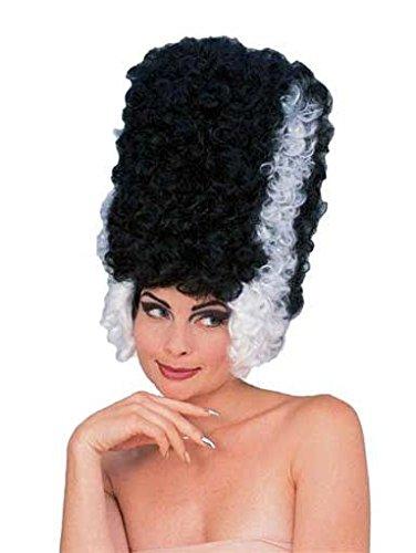 Frankenstein Monster Bride peluca Negro Blanco: Amazon.es: Juguetes y juegos