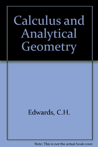 Calculus and Analytical Geometry