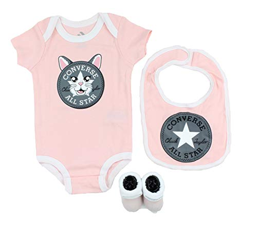 Converse Baby 3-Piece Layette Set (Storm Pink/Cat (A8J), 0-6 Months)