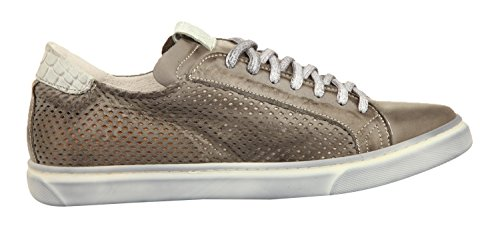 Ylati Hommes Sneakers VESUVIO LOW Grey Leather 1520