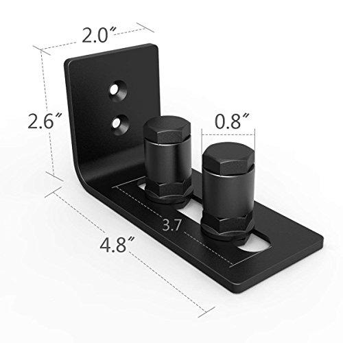 Barn Door Floor Guide Stay Roller - New Designed Stainless Sliding Door Hardware Adjustable Wall Mount Roller Guides for Pocket Door, Cabinets, Sliding Wood Doors (Black) by HOMEWINS (Image #1)