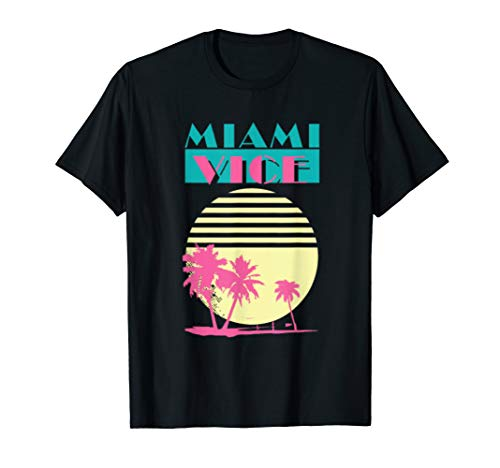 Vintage Miami Florida Cityscape Retro Graphic T-Shirt, men/women