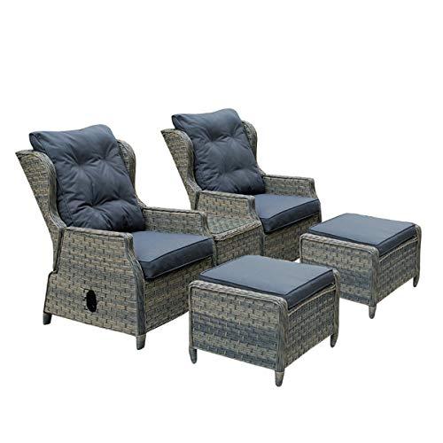 Casamoré Corfu Woodash - Juego de sillones reclinables para ...