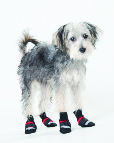 Fashion Pet Lookin Good Extreme All Weather Boots for Dogs, XXX-Small, Red - Nylon Dog Booties