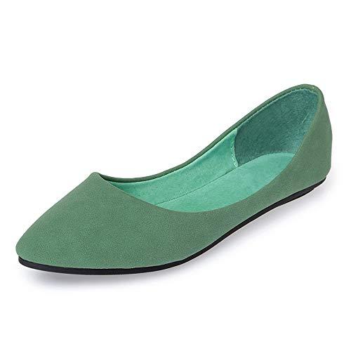 Puntiagudos FLYRCX los los de señoras Zapatos 36 Baja Trabajo la del de Boca Las Manera Los Zapatos de Calzan la Oficina Planos Respirables 36 de UE Solo Planos Ocasional Zapatos EU cómodos rgrxn