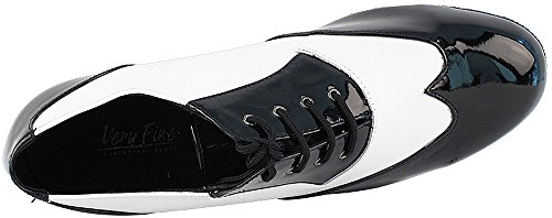 Mens Ballroom Dance Shoes Standard & Smooth Tango Wedding Salsa Shoes Black Patent & White Leather M100101EB Comfortable - Very Fine 1'' Heel 9 M US [Bundle of 5] by Very Fine Dance Shoes (Image #5)
