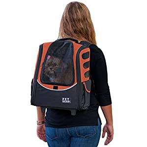 39. Pet Gear I-GO2 Roller Backpack, Travel Carrier