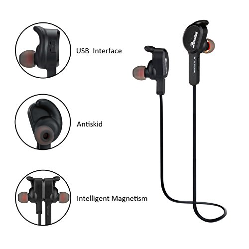 Aidbucks Wireless Sport Headphones Stereo Noise Cancelling Earbuds