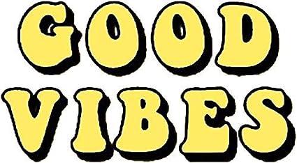 Good Vibes Tumblr Aesthetic Yellow Sticker Decal Window Bumper Sticker Vinyl 5