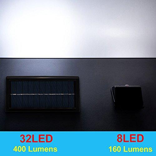400lumens Max 32led Solar Lights Hallomall Waterproof