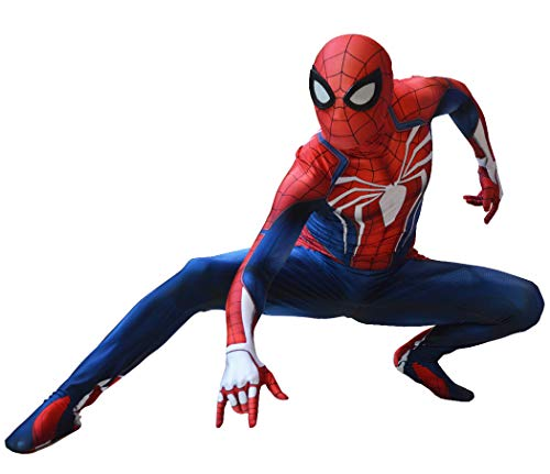 Insomniac PS4 Spiderman Costume PS4 Spider-Man Suit for Kids and Adults Cosplay Best Halloween Costume -