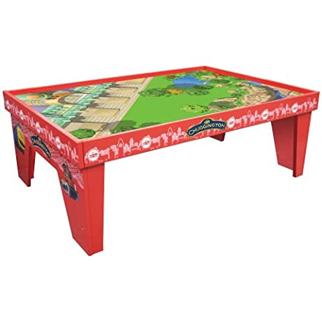 Chuggington Wooden Railway Let S Ride The Rails Playtable With Playboard