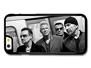 AMAF ? Accessories U2 Black and White Band Portrait Walking in Underground Bono case for iPhone 6