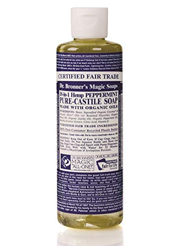 Dr. Bronner's Organic Liquid Soaps Peppermint at Least 70% Organic, 16 Ounce