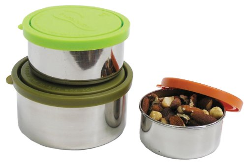 U Konserve Nesting Trio Stainless-Steel Containers with Leak-Resistant Lids (Steel Snack Containers Stainless)