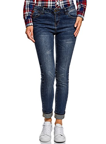 oodji Taille 7900w Mi Jean Bleu Haute Skinny Ultra Femme rOwqHr