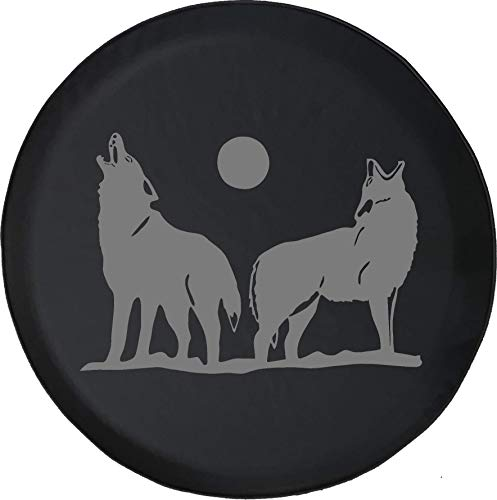American Unlimited Spare Tire Cover Stealth - Wolves Howling at The Moon Wolf Pack Fits Jeep Liberty Rav4 CRV or RV Accessories Camper 29 in