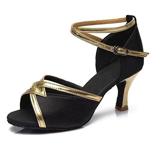 YFF Men's Ballroom Tango Latin Dance Schuhe, Weiß, 5,5