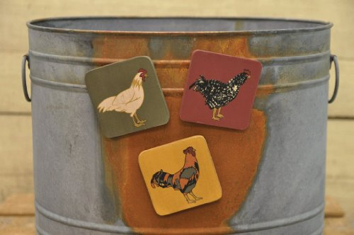Rooster and Chicken Magnets
