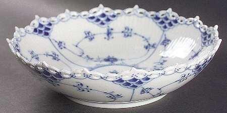 ロイヤルコペンハーゲン ブルーフルーテド-フルレース ケーキ皿 [並行輸入品] B00A9D4AFY