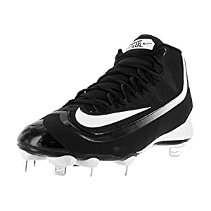 Nike Men's Huarache 2KFilth Pro Mid Black/White Baseball Cleat 9.5 Men US