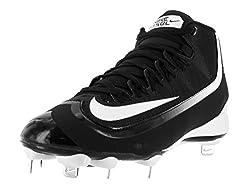 Nike Men's Huarache 2kfilth Pro Mid Blackwhite Baseball Cleat 10.5 Men Us