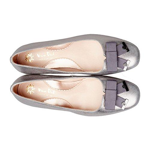 Metallic Toe Women's Closed Dal Van Mercury Heels Silver Print Robin qFw4cx