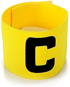UNAOIWN - Brazalete elástico Ajustable con diseño de capitán de fútbol para Adultos y niños (Amarillo): Amazon.es: Deportes y aire libre