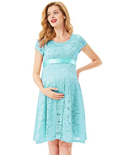 Baby Shower Cocktail Party - Maternity Women's Floral Lace Baby