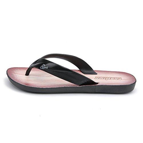 Sandalo 42 uomo infradito da Scarpe da shoes EU infradito infradito con Jiuyue Nero Dimensione Marrone Color uomo classico P5BZE1q