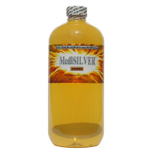 MediSILVER AMBER (20 ppm Traditional Colloidal Silver) - 500 mL