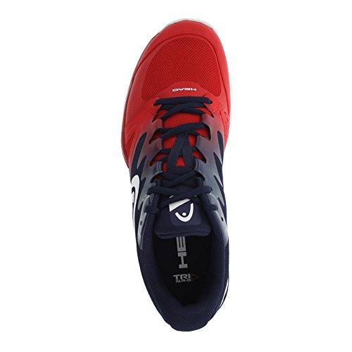 Hoofd Sprint Pro 2.0 Heren Tennisschoen Rode En Zwarte Iris