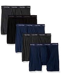 Calvin Klein Calzoncillos Calzones clásicos de algodón para Hombre, Paquete de 5
