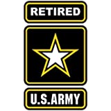 Retired Army - Color Sticker - Decal - Die Cut