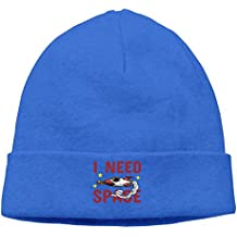 Huajsu Need Space Stretchy Beanies Thick Soft & Cold Winter Cuff Warm Beanie Cap Hats For Women & Men - Serious Beanies For Serious Style