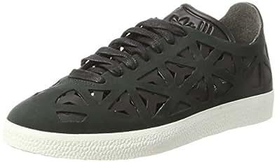 adidas Gazelle Cutout W, Zapatillas de Deporte para Mujer, Negro Negbas/Casbla, 36 2/3 EU