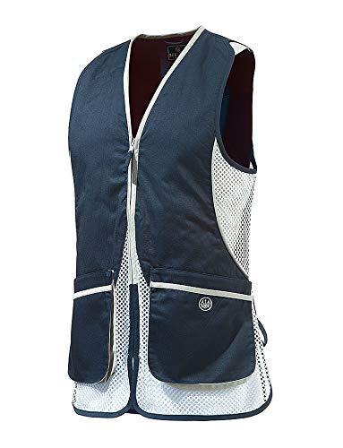 Beretta Womens Silver Pigeon Shooting Vest, Navy Blue, XL ()