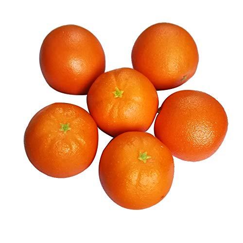 D-Seven 6pcs Fake Orange Artificial Fruit Faux Orange for Home Shop Office Hotel Supermarket Props Or Decoration