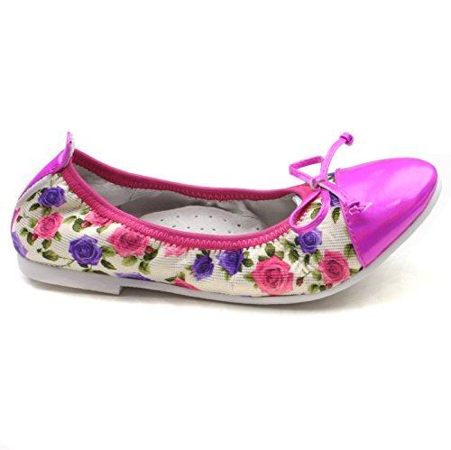 Mädchen STEP2WO Ashley elast Slipon lila floral PU/Stoff 37
