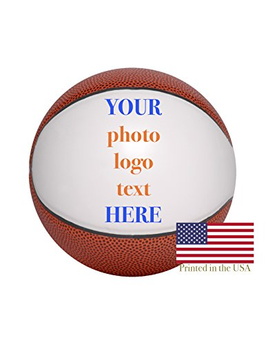 Custom Personalized Basketball - 12 Inch Full Sized Basketball - Ships in 3 Business Days, High Resolution Photos, Logos & Text on Basketball Balls - for Trophies, Personalized Gifts
