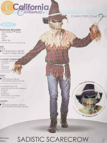 Create Your Own Halloween Costume Online (California Costumes Men's Sadistic Scarecrow Costume, Brown,)